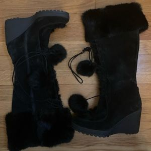 MAKE A STATEMENT With Black COACH Fur Boots
